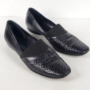 Sesto Meucci Black Woven Leather Dress Flats 10